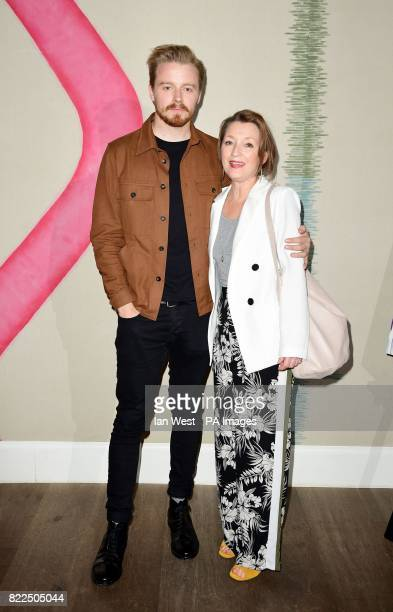 Jack Lowden and Lesley Manville arrive for a screening of England Is Mine at the Ham Yard Hotel in London