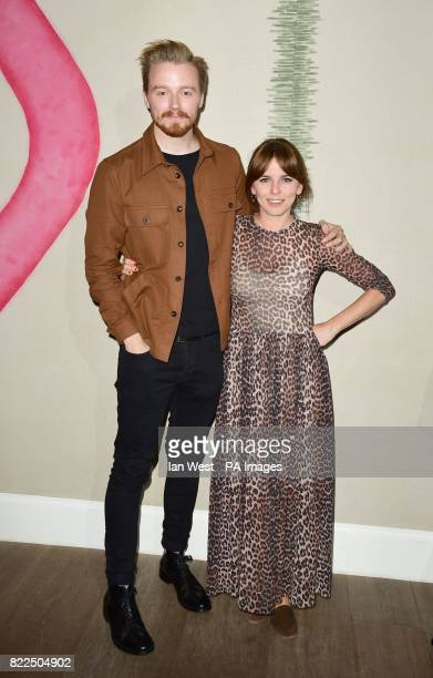 Jack Lowden and Ophelia Lovibond arrive for a screening of England Is Mine at the Ham Yard Hotel in London