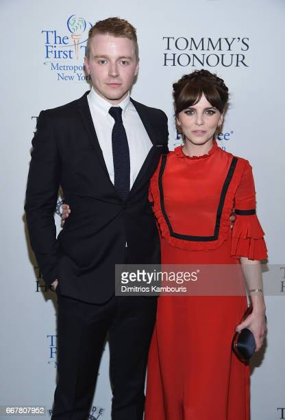 Jack Lowden and Ophelia Lovibond attend 'Tommy's Honour' New York Screening at AMC Loews Lincoln Square 13 theater on April 12 2017 in New York City