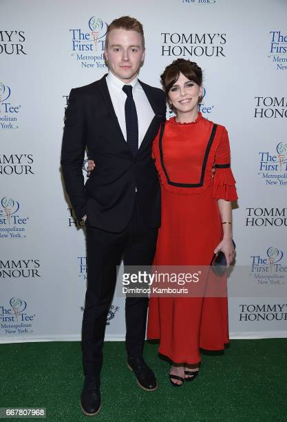 Jack Lowden and Ophelia Lovibond attend Tommy's Honour New York Screening at AMC Loews Lincoln Square 13 theater on April 12 2017 in New York City