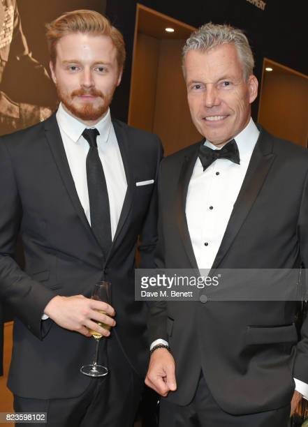Jack Lowden and Torsten MullerOtvos Chief Executive RollsRoyce Motor Cars attend the world premiere of the 'The Great Eight Phantoms A RollsRoyce...