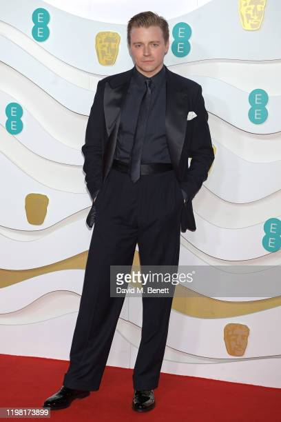 Jack Lowden arrives at the EE British Academy Film Awards 2020 at Royal Albert Hall on February 2 2020 in London England