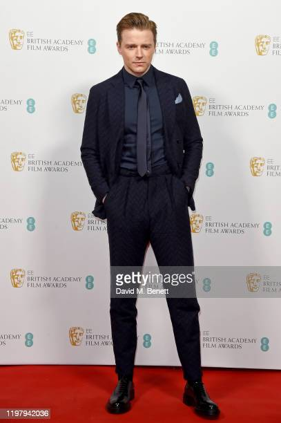 Jack Lowden arrives at the EE British Academy Film Awards 2020 Nominees' Party at Kensington Palace on February 1 2020 in London England