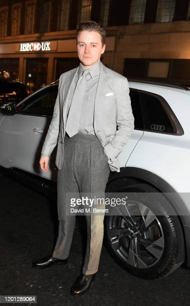 Jack Lowden arrives in an Audi at the Vanity Fair EE BAFTA Rising Star Party at The Standard on January 22 2020 in London England