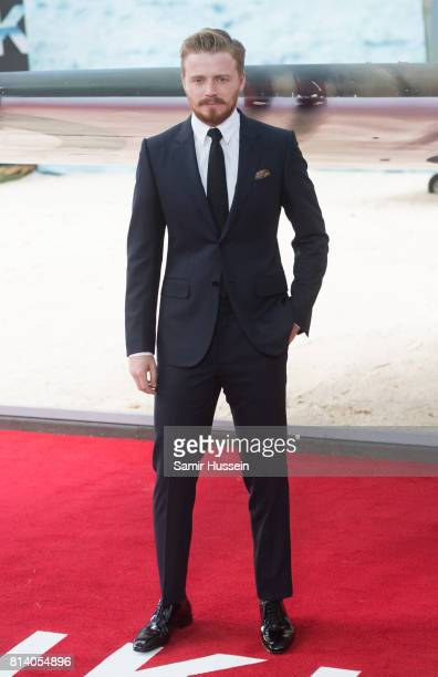 Jack Lowden arriving at the 'Dunkirk' World Premiere at Odeon Leicester Square on July 13 2017 in London England
