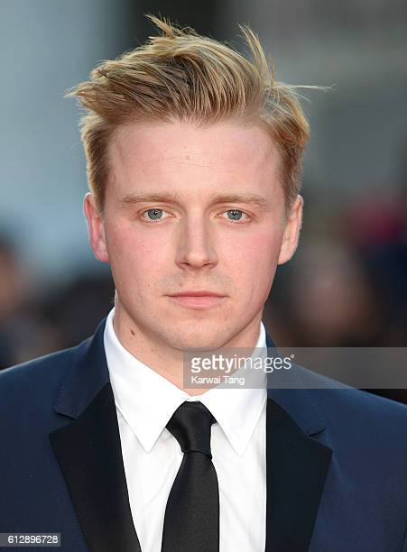 Jack Lowden attends the 'A United Kingdom' Opening Night Gala screening during the 60th BFI London Film Festival at Odeon Leicester Square on October...