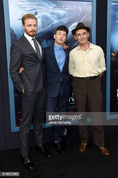 Jack Lowden Barry Keoghan and Mark Rylance attend the 'DUNKIRK' New York Premiere on July 18 2017 in New York City