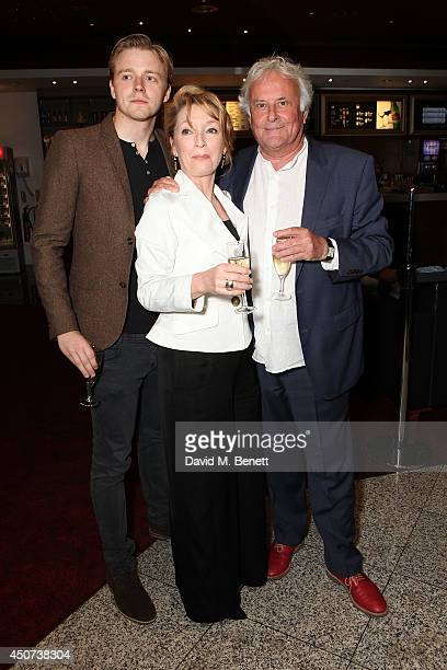 Jack Lowden Lesley Manville and Richard Eyre attend the London Premiere of The Almeida Theatre production of Ghosts at the Empire Leicester Square on...