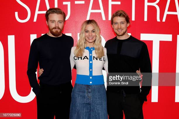 Jack Lowden Margot Robbie and Joe Alywn attend the SAGAFTRA Foundation Conversations 'Mary Queen Of Scots' at The Robin Williams Center on December...