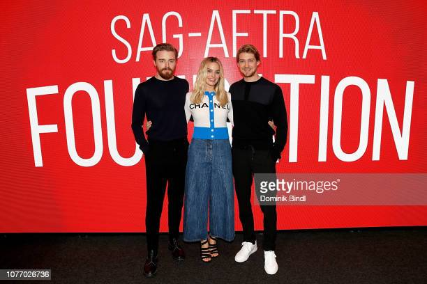 Jack Lowden, Margot Robbie and Joe Alywn attend the SAG-AFTRA Foundation Conversations: 'Mary Queen Of Scots' at The Robin Williams Center on...