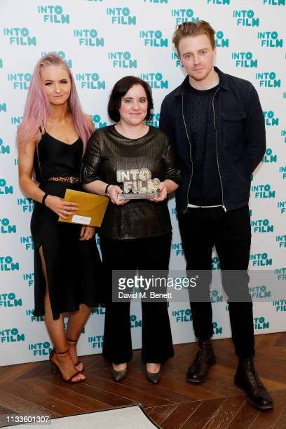 Jack Lowden presents Into Film Club of the Year Secondary Award sponsored by Warner Bros Creative Talent 'Rowlands' Selkirk Scotland at the Into Film...