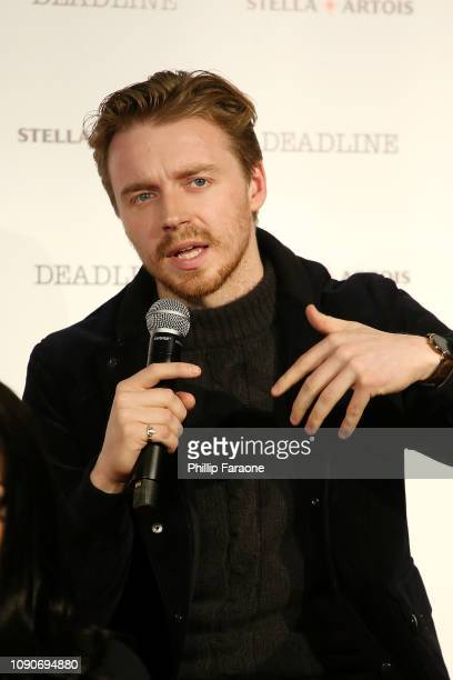 Jack Lowden speaks onstage during the Stella Artois Deadline Sundance Series at Stella's Film Lounge A Live QA with the filmmakers and cast of...