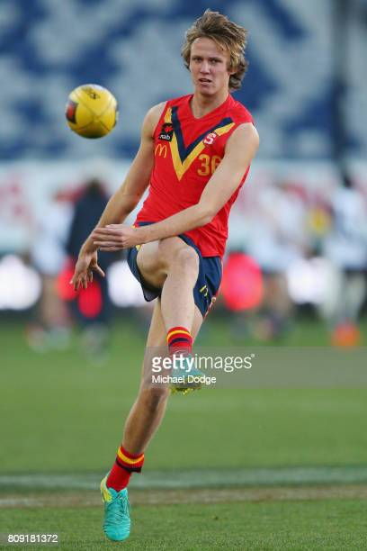 Jack Lukosius of South Australia during the U18 AFL Championships match between Vic Metro and the Allies at Simonds Stadium on July 5 2017 in Geelong...