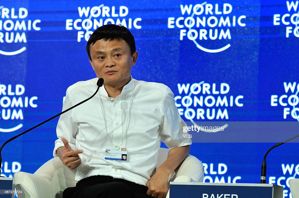 Jack Ma Chairman Of Alibaba Group Speaks During The World Economic