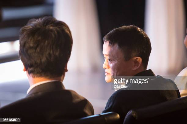 Jack Ma chairman of the Alibaba Group attends an event promoting the 1111 shopping festival at the Alibaba Group Holding Ltd headquarters in Hangzhou...