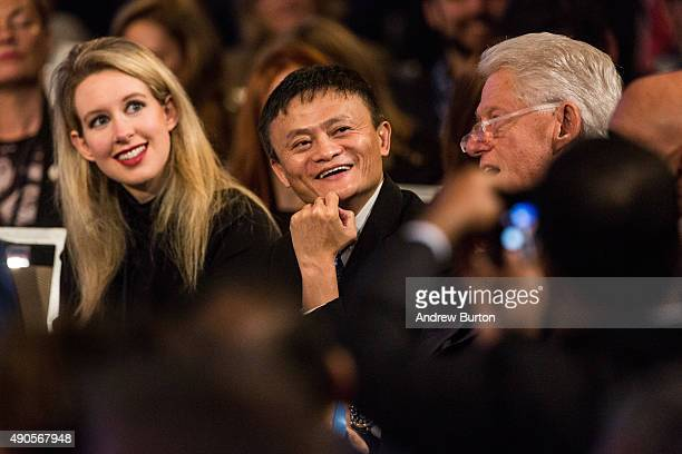 Jack Ma executive chairman of Alibaba Group attends the Clinton Global Initiative's closing session on September 29 2015 in New York City The Clinton...