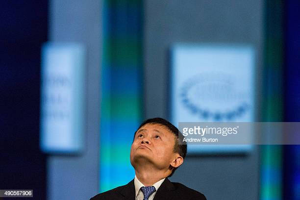 Jack Ma executive chairman of Alibaba Group speaks at the Clinton Global Initiative's closing session on September 29 2015 in New York City The...