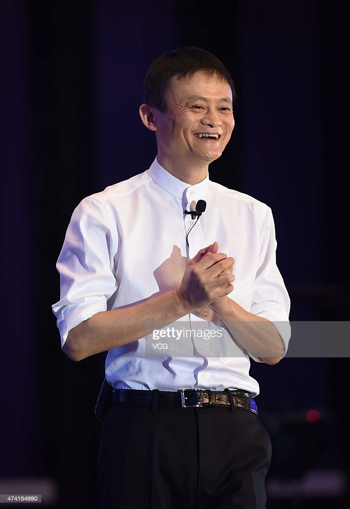 Jack Ma, Executive Chairman of Alibaba Group, speaks during the Global Women Entrepreneurs Conference on May 20, 2015 in Hangzhou, Zhejiang province of China. The Global Women Entrepreneurs Conference hosted by Chinese e-commerce giant Alibaba Group is being held in the eastern Chinese city of Hangzhou on May 20 and global female celebrities such as Arianna Huffington, Liu Qing, president of the recently merged taxi-hailing company Didi Kuaidi Dache, US actress Jessica Alba and Chinese actress Vicki Zhao as well as the only male participant at the meeting Jack Ma are attending the conference. The participants discussed the opportunities and challenges brought by the Internet for women entrepreneurs, as well as how women can shape the world by better interacting with the commercial sector.