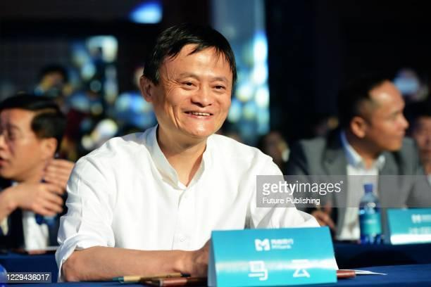 Jack Ma, founder of Ant Group, attends the inaugural meeting of Zhejiang E-Merchant Bank. Hangzhou, Zhejiang Province, China, June 25, 2015. On...