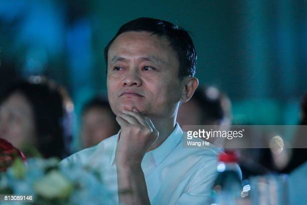 Jack Ma founder of the Alibaba Group attends the 2017 forum on rural headmasters on July 12 2017 in Hangzhou Zhejiang province of China The twenty...