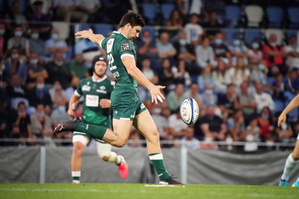 Jack MADDOCKS of Section Paloise during the Friendly match between Bayonne and Pau at Stade Jean Dauger on August 19, 2021 in Bayonne, France. (Photo by Pierre Costabadie/Icon Sport via Getty Images)