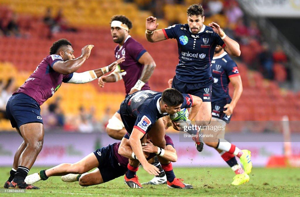 Super Rugby Rd 7 - Reds v Rebels : News Photo
