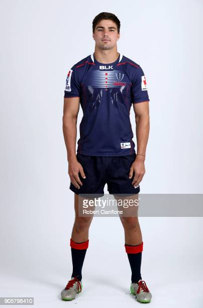 Jack Maddocks of the rebels poses during the Melbourne Rebels Super Rugby headshots session at AAMI Park on January 17 2018 in Melbourne Australia