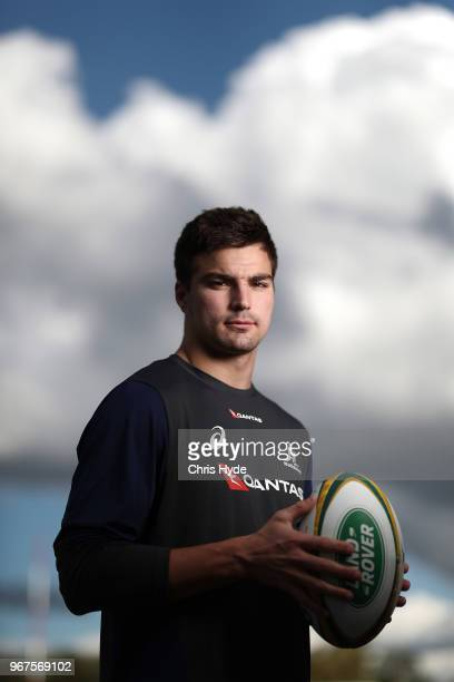 Jack Maddocks poses during an Australian Wallabies training session at Ballymore Stadium on June 5 2018 in Brisbane Australia