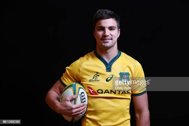 Jack Maddocks poses during the Australian Wallabies headshot session on May 7 2018 in Gold Coast Australia