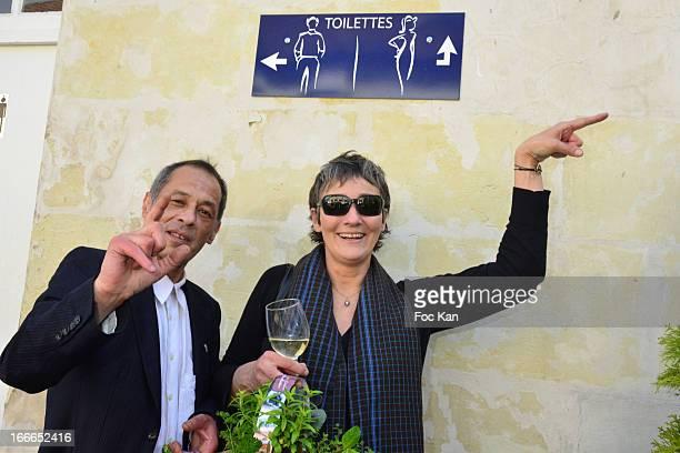 Jack Marchal and Clelia Ventura daughter of actor Lino Ventura attends the 'Journees Nationales du Livre et du Vin 2013' At Bouvet Ladurey Cellars on...