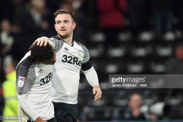 Jack Marriott of Derby County celebrates after scoring a goal to make it 1-0 during the Sky Bet Championship match between Derby County and Barnsley...
