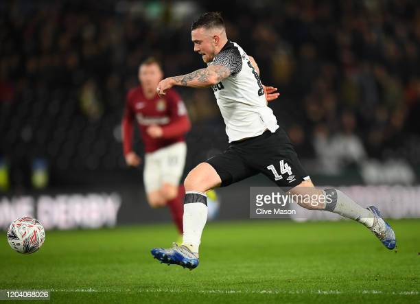 Jack Marriott of Derby County during the FA Cup Fourth Round Replay match between Derby County and Northampton Town at Pride Park on February 04,...
