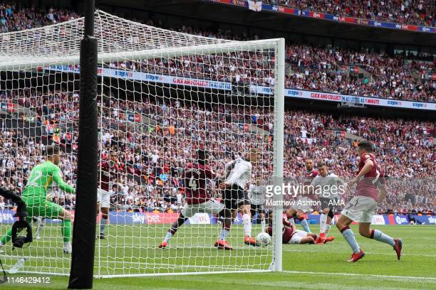 Jack Marriott of Derby County scores a goal to make it 21 during the Sky Bet Championship Playoff Final match between Aston Villa and Derby County at...