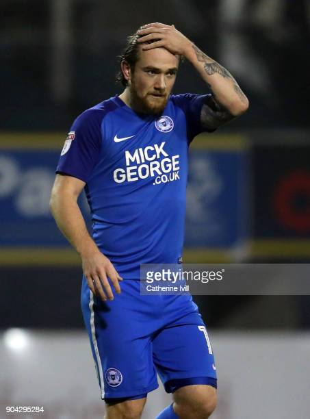 Jack Marriott of Peterborough United during the EFL Checkatrade Trophy Third Round match between Luton Town and Peterborough United at Kenilworth...