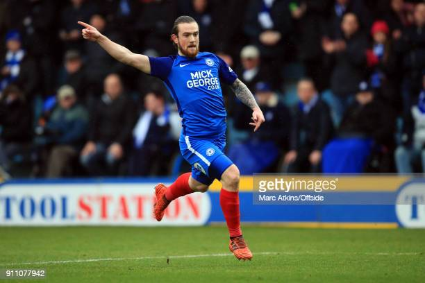 Jack Marriott of Peterborough United during the FA Cup 4th Round match between Peterborough United and Leicester City at ABAX Stadium on January 27...