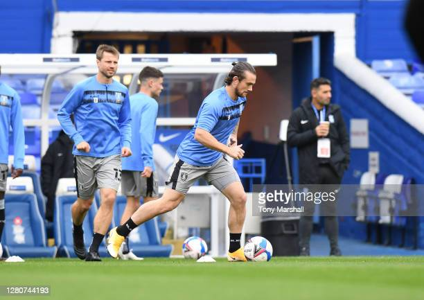 Jack Marriott of Sheffield Wednesday during the warm up before the Sky Bet Championship match between Birmingham City and Sheffield Wednesday at St...