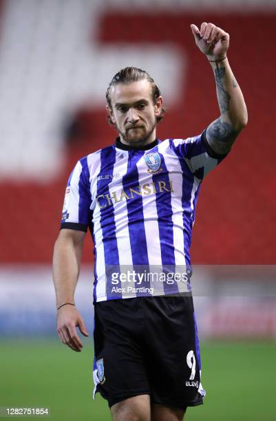 Jack Marriott of Wednesday during the Sky Bet Championship match between Rotherham United and Sheffield Wednesday at AESSEAL New York Stadium on...