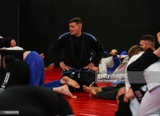 Jack Marshman looks for his next grappling partner at the opening of Shore Mixed Martial Arts on November 2 2019 in Abertillery Wales
