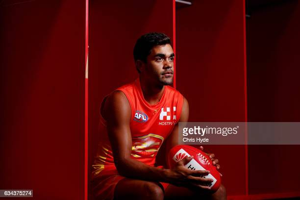 Jack Martin poses during a Gold Coast Suns AFL media opportunity at Metricon Stadium on February 7, 2017 in Gold Coast, Australia.
