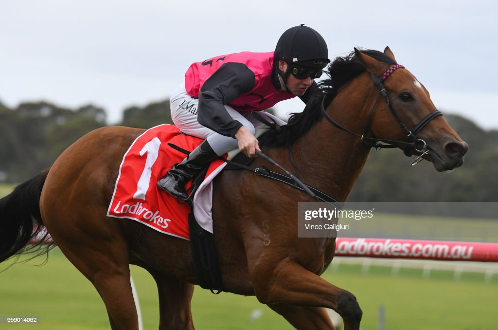 Jack Martin riding Barthelona wins Race 7 during Melbourne Racing at Sandown Hillside on May 16, 2018 in Melbourne, Australia.