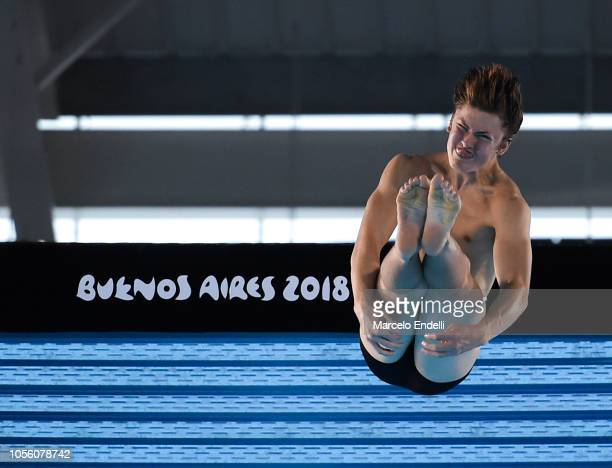 Jack Matthews of United States competes in the Mixed International Team Final during Day 11 of Buenos Aires Youth Olympic Games 2018 at Europe...