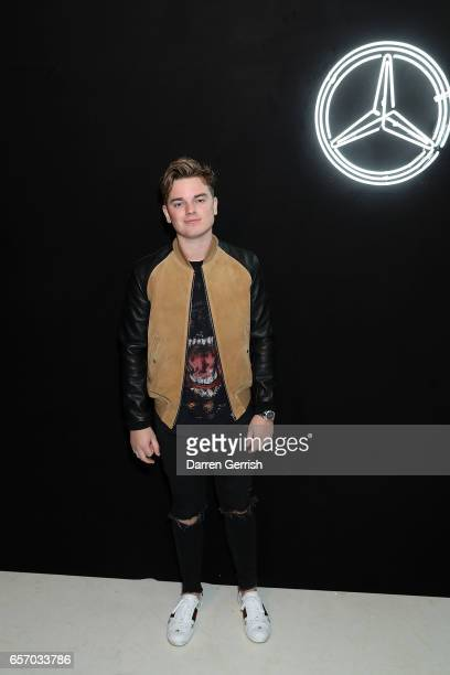 Jack Maynard attends the MercedesBenz #MBCOLLECTIVE Chapter 1 launch party with M I A and Tommy Genesis on March 23 2017 in London United Kingdom