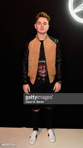 Jack Maynard attends the MercedesBenz #mbcollective launch party with MIA Tommy Genesis at 180 The Strand on March 23 2017 in London England