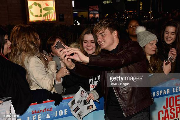 Jack Maynard attends the UK premiere of 'Joe And Caspar Lee Hit The Road USA' at Cineworld Leicester Square on November 17 2016 in London United...