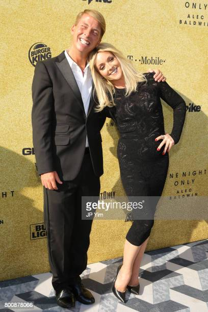 Jack McBrayer and Jane Krakowski attend 'Spike's One Night Only Alec Baldwin' at The Apollo Theater on June 25 2017 in New York City