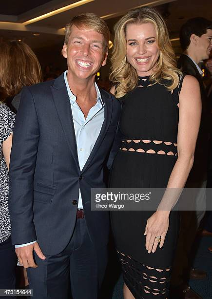 Jack McBrayer and Rebecca Romijn attend the Turner Upfront 2015 at Madison Square Garden on May 13 2015 in New York City JPG