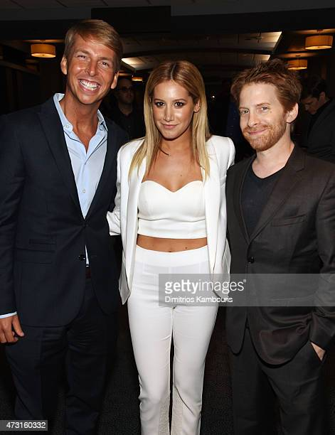 Jack McBrayer Ashley Tisdale and Seth Green attend the Turner Upfront 2015 at Madison Square Garden on May 13 2015 in New York City JPG