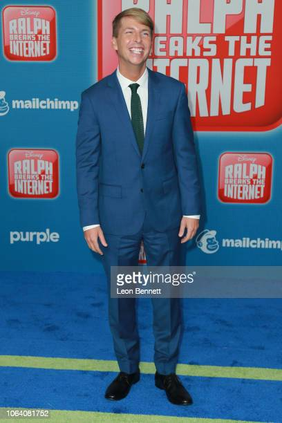 Jack McBrayer attends Premiere Of Disney's Ralph Breaks The Internet Arrivals on November 05 2018 in Los Angeles California