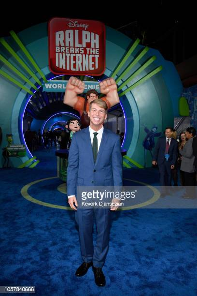 Jack McBrayer attends the premiere of Disney's Ralph Breaks the Internet at El Capitan Theatre on November 5 2018 in Los Angeles California