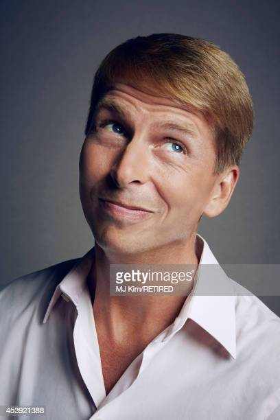Jack McBrayer poses for a portrait at the Getty Images Portrait Studio powered by Samsung Galaxy at ComicCon International 2014 on July 24 2014 in...